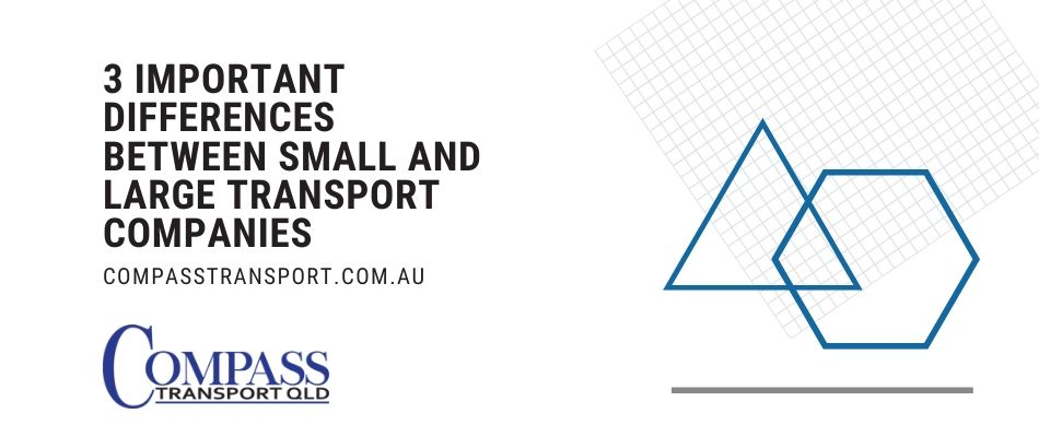 3 Important Differences Between Small and Large Transport Companies