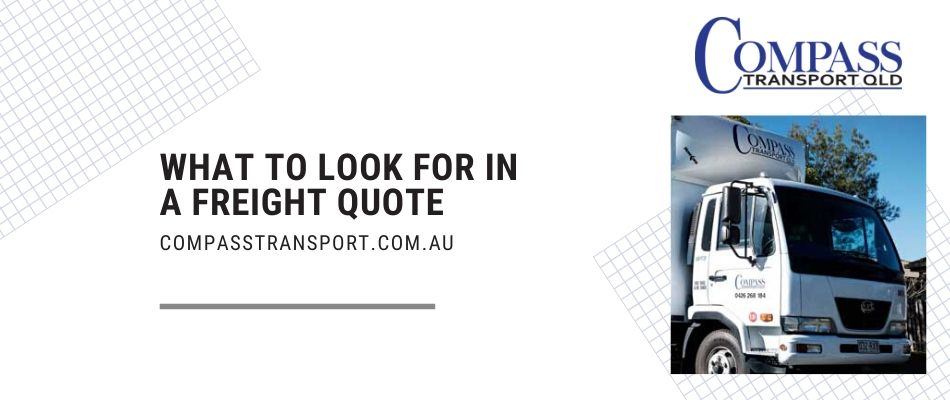 What to look for in a Freight Quote