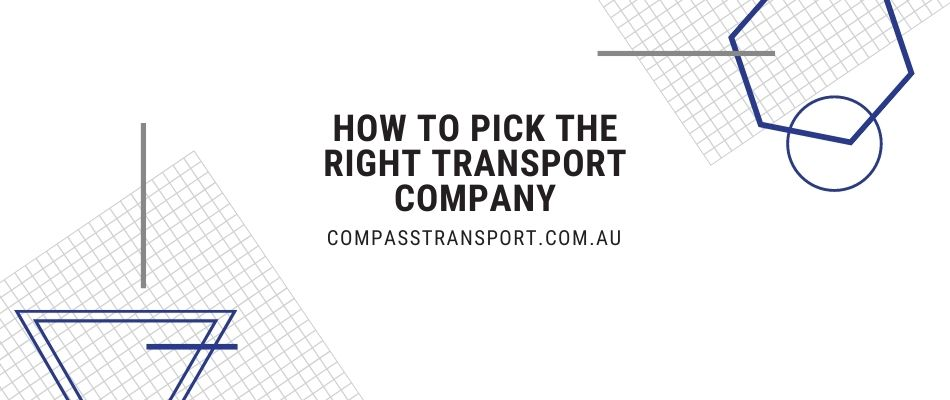 How to Pick the Right Transport Company