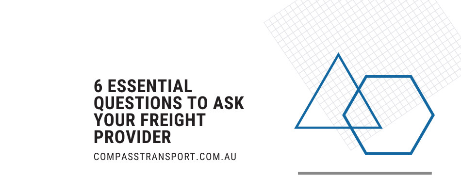 questions to ask freight provider